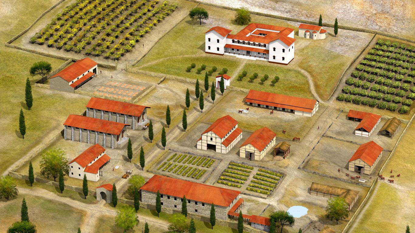 Ancient roman villa thinglink for Villas rusticas